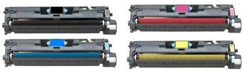 4-Pack HP Q3960A, Q3961A, Q3962A, Q3963A Compatible Toner Cartridge Set for LaserJet 2550 Series