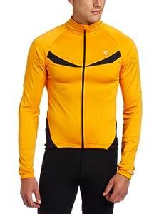 Pearl Izumi Men's Elite Thermal Long Sleeve Jersey, Safety Orange / Black, Medium