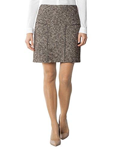 CINQUE Damen Rock Cicasio Polyacryl Skirt Gemustert, Größe: 38, Farbe: Braun
