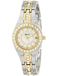 Women's ZR11775 Queen's Court Silver & Gold Two-Tone Watch