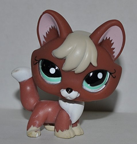 Littlest Pet Shop Red Brown Fox 1126 with Blue Eyes, Replace