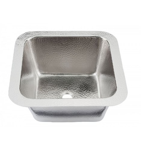 Thompson Traders 1S-BRN Hammered Nickel Picasso Bar/Prep Sink