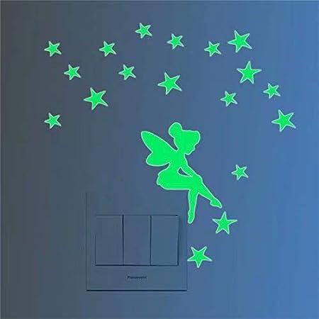 D/écoration lumineuse mignon interrupteur sticker mural autocollant nuit fluorescentes