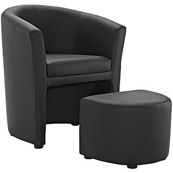 barrel chair and ottoman
