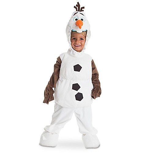 Frozen Olaf Deluxe Toddler & Child Costumes (Disney Store Deluxe Frozen Olaf Plush Halloween Costume for Kids All Sizes (XS 4 or 4T))