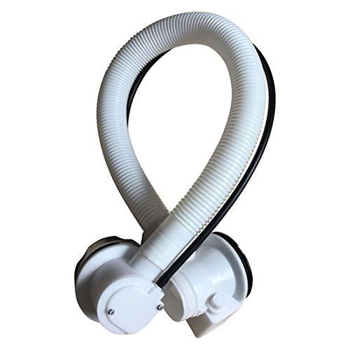 jiumoji Bath Waste with Overflow Kit Pop-Up Plug & Twist Plastic Pipe and Chrome Handle Drainer (White) ()