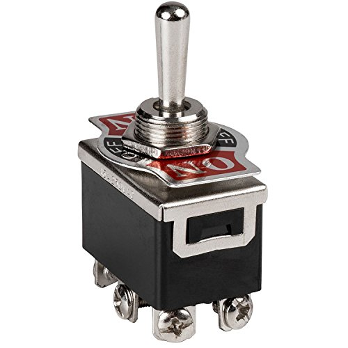 LLC Integral - Heavy Duty Toggle Switch - SPST On / Off Type / Heavy Duty Momentary Rocker Toggle Switch ON - OFF - ON Spring Loaded Toggle (Integral Toggle)