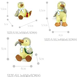 Set de 3figuras de pingüino en sangre fría para maceta, maceta Decors