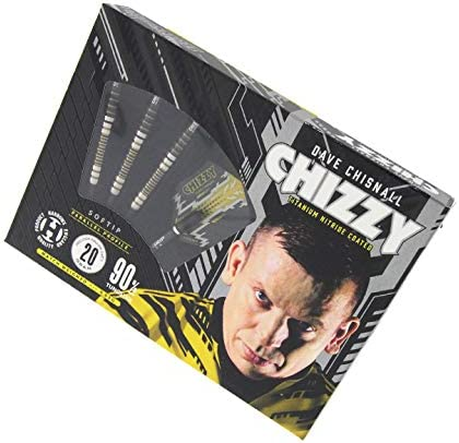 "2 Unique designs Harrows Dave Chisnall /""CHIZZY/"" Yellow /& Black Dart Flights"