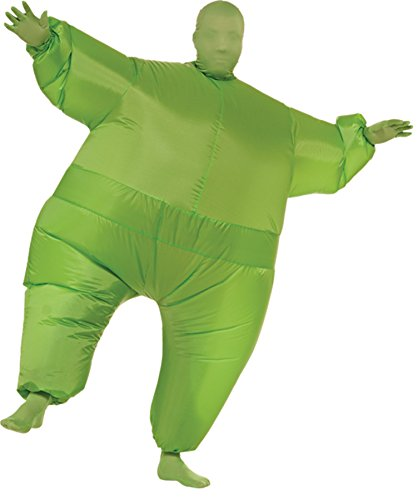 Green Inflatable Skin Suit (Mens Inflatable Sumo Costume)