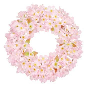 造花 桜リース(片面) flw-4001-m flw-4001-l (Mサイズ) B01N21YSYC   Mサイズ