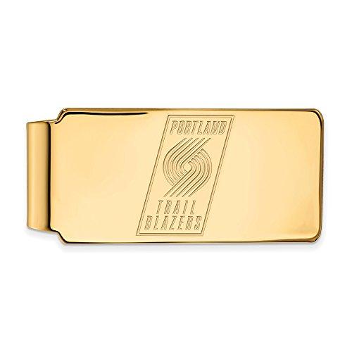 NBA Portland Trail Blazers Money Clip in 14K Yellow Gold by LogoArt