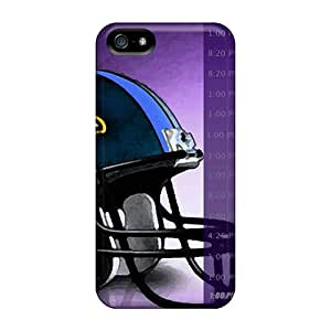 High Quality Shock Absorbing Case For Iphone 5/5s-baltimore Ravens