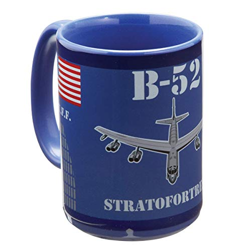(B-52 Stratofortress Bomber 15 ounce Coffee Mug Aviation Decor Aircraft)