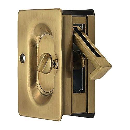 Emtek Pocket Door Privacy Lock Set, Antique Brass - Antique Pocket Door Hardware: Amazon.com