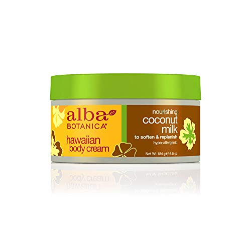 Alba Botanica Hawaiian, Coconut Milk Body Cream, 6.5 Ounce ()