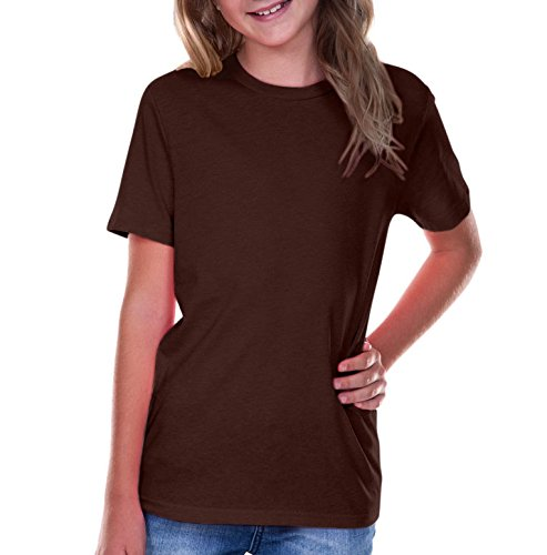 Kavio! Youth Crew Neck Short Sleeve Tee Jersey (Same YJC0263) Coffee M - Brown Mens Shirt