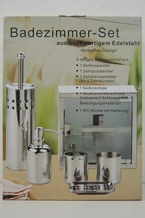 Badezimmer Set 6 Teilig Seifenspender Seifenschale Badezimmerzubehör  Edelstahl: Amazon.de: Küche U0026 Haushalt