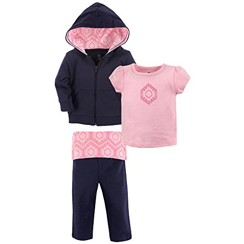 Yoga Sprout Baby 3 Piece Jacket, Top and Pant Set, Moroccan Toddler, 4