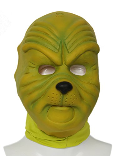 Grinch Latex Mask (Grinch Mask Deluxe Green Latex Mask How the Grinch Stole Christmas Cosplay Props)