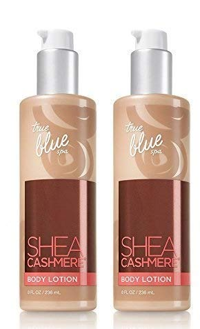 - Lot of 2 Bath and Body Works True Blue Spa Shea Cashmere Body Lotion 8oz.