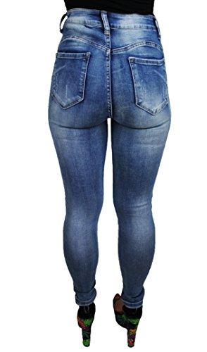 Vita Jeans Up Aderenti Evoga Push Skinny Alta Denim Elasticizzati Slim Donna SExnHqnzdX