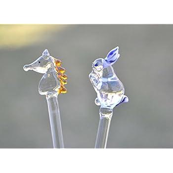 Blown Glass Cocktail Stirrers