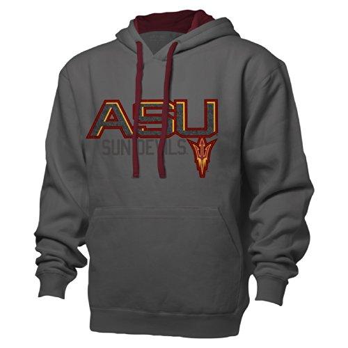 NCAA Arizona State Sun Devils Benchmark Colorblock Pullover Hood, Large, Graphite/Garnet (Sun Ncaa Applique Devils)
