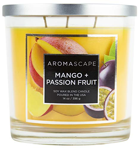 (Aromascape 3-Wick Scented Jar Candle, Mango & Passion)