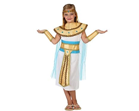 Atosa-23308 Disfraz Egipcia, Color dorado, 3 a 4 años (23308