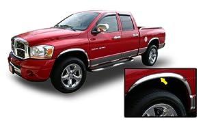 02 08 dodge ram chrome fender trim wheel well moulding 2wd 4wd 1500 2500 2002 2003. Black Bedroom Furniture Sets. Home Design Ideas