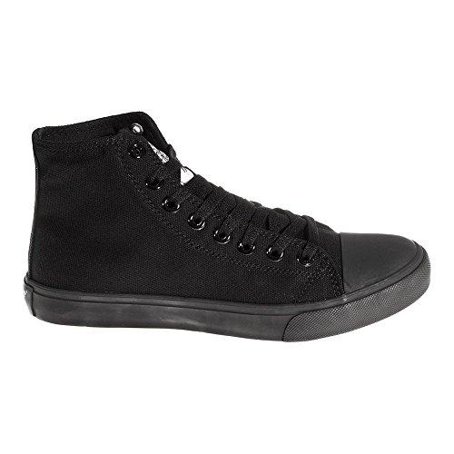 Bleeding En Montantes Toile Heart Uni Noir Chaussures rUxZrEqf