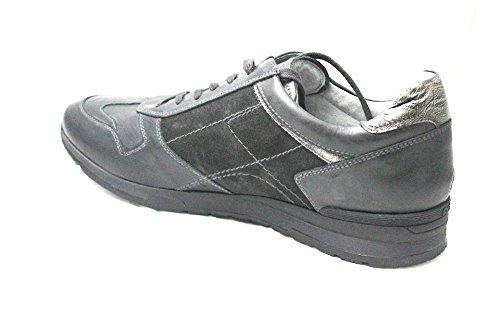 Nero Giardini Sneaker Homme en cuir grise a604331u-101–Noir jardins