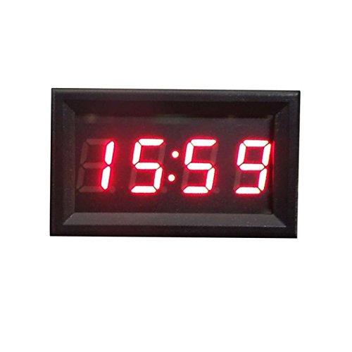 Reloj digital para tablero o salpicadero, de Hunpta, accesorio para motocicleta o coche, 12 V - 24 V, pantalla LED: Amazon.es: Hogar
