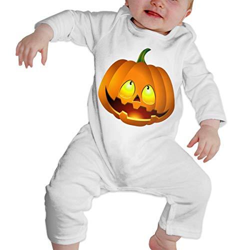 Pumpkin Face Halloween Soft Cotton Comfotable Baby Girls Long Sleeve Onesies