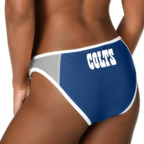 FOCO NFL Indianapolis Colts Womens Team Logo Swim Suit Bikiniteam Logo Swim Suit Bikini, Bottom, ()