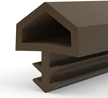 STEIGNER Burlete para Puerta y Ventana STD05 70m 12mm Marrón Junta de goma Perfil de estanqueidad para ventanas y puertas de PVC, Madera, Aluminio: Amazon.es: Bricolaje y herramientas
