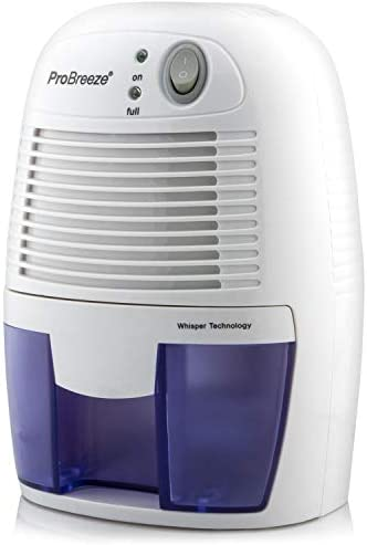 Pro Breeze Electric Mini Dehumidifier, 1200 Cubic Feet 150 sq ft , Compact and Portable for High Humidity in Home, Kitchen, Bedroom, Bathroom, Basement, Caravan, Office, RV, Garage with Auto Shut Off