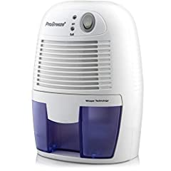 Brand new Compact Dehumidifier from ProBreeze quickly and efficiently removes moisture from the air - Perfect for small areas up to 1200 cubic feet including the Kitchen, Bathroom, Garage, Caravan, Basement, Wardrobe, Closet, Boat or a...