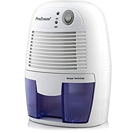 Pro Breeze Electric Mini Dehumidifier, 1200 Cubic Feet (150 sq ft), Compact and Portable for High Humidity in Home, Kitchen, Bedroom, Basement, Caravan, Office, Garage