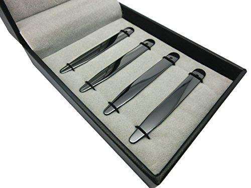 Shang Zun 8 Pcs Ceramic Collar Stays Gift for Men, Black & White 2.59'' by Shang Zun (Image #1)