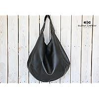 Vegan Hobo Handbag, Black tote bag