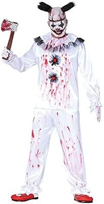 FIESTAS GUIRCA Disfraz Payaso Payaso Asesino Disfrazado Horror Halloween Hombre