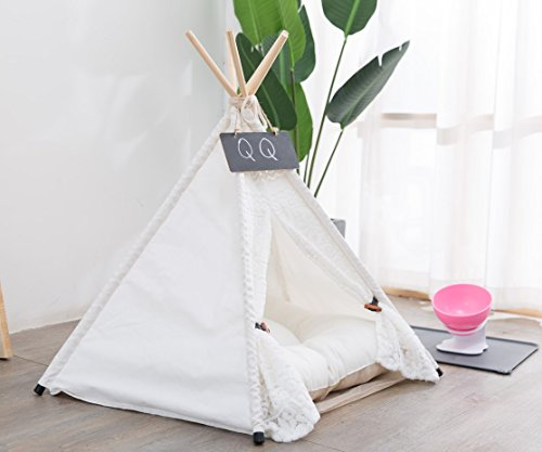 Yongs Pet Cat Dog Rabbit Teepee Cushion,Portable Puppy Small Animals Bed Tent (20 X 24 Inch) by Yongs (Image #3)