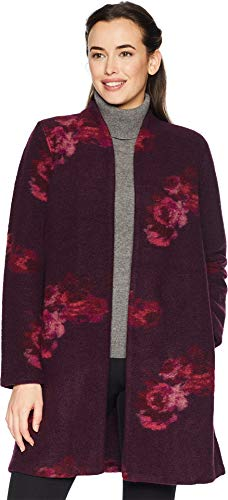 Calvin Klein Women's Printed Boiled Wool Jacket Haze Multi X-Small ()
