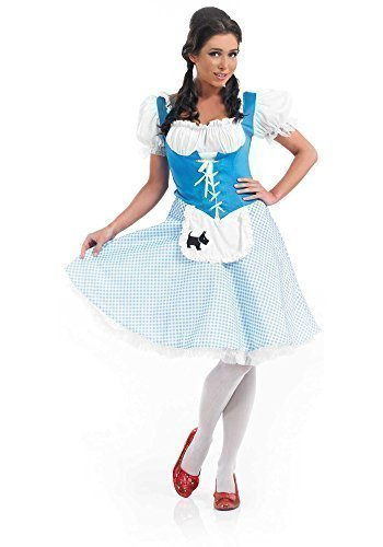 Ladies Longer Length Bo Peep Red Riding Hood Dorothy Goldilocks Fancy Dress Costume UK 8-26 Plus Size (UK 16-18]()