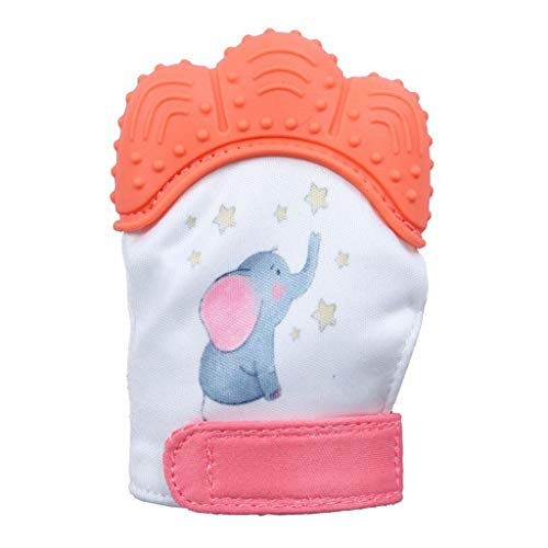 Willsa New Design Elephant Baby Silicone Mitts Teeth Mitten Molars Glove Wrapper