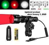 Ulako Green Red White Light 300 Yards Range Flashlight...