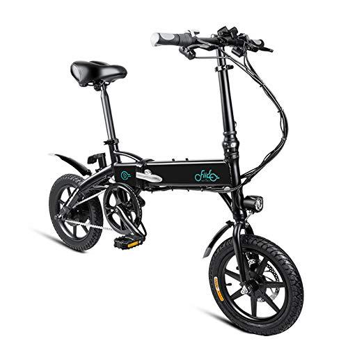 negro FastDirect Bicicleta Eléctrica de Rueda 14 Pulgadas Bicicleta Plegable de Aleación de Aluminio 36V   250W E-Bike con Batería de Litio de Alta Capacidad 10,4 AH