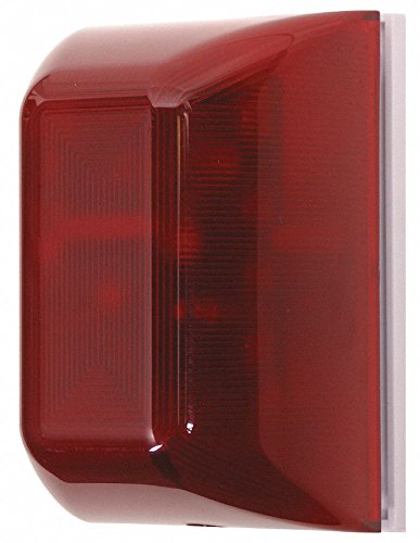 Alarm Mini Controller, Continuous Sound Pattern, 9 or 12VDC Voltage, Decibels: 105dB, Color: Red ()
